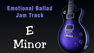 E Minor Emotive Rock Ballad Jam Track 100 Bpm