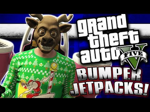 GTA 5 - Bumper Jet Packs and Renzzi Rage! | Comedy Gaming