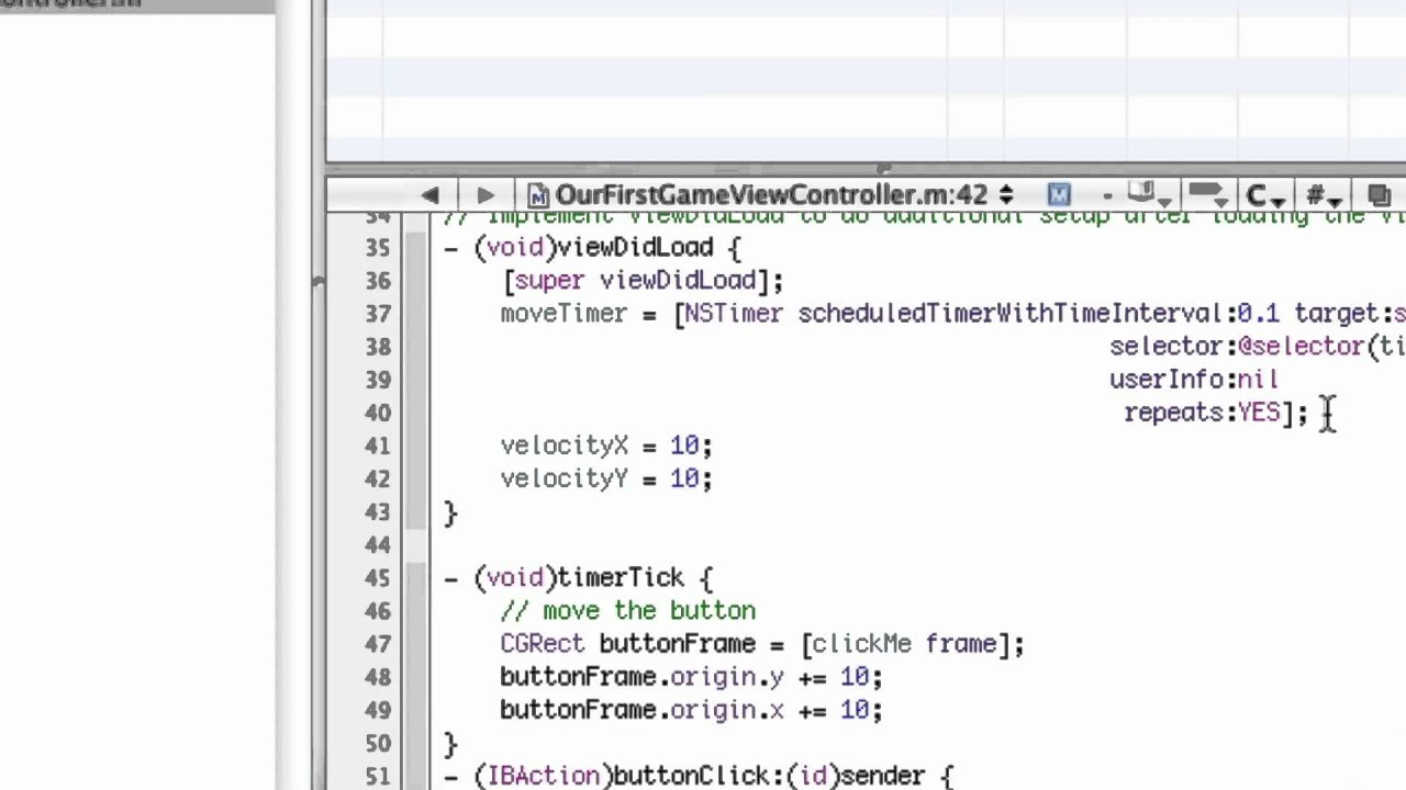 Objective-C iPhone Programming Lesson 14 – Starting a Game