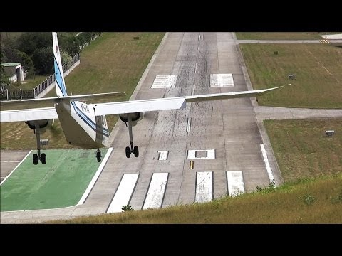 Dangerous Airport! St. Barth Landings and Departures ( HD )