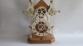 Masonic Twin Pendulum Clock