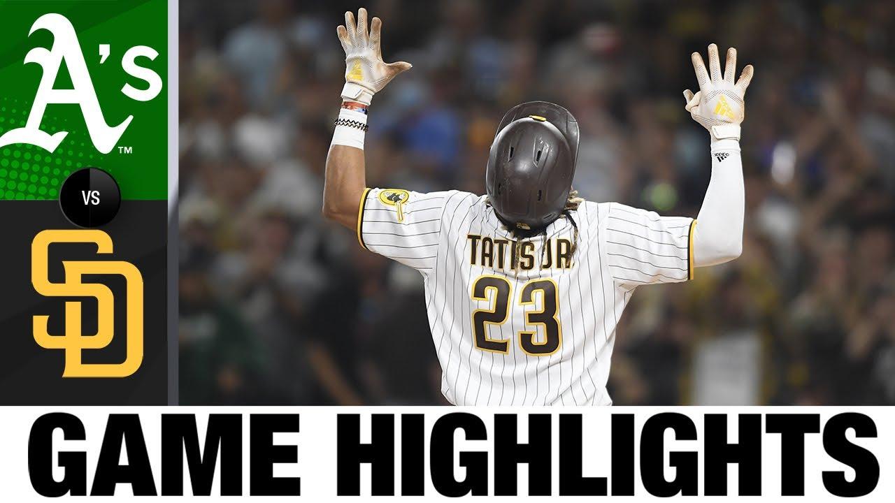 A's vs. Padres Game Highlights (7/27/21) | MLB Highlights