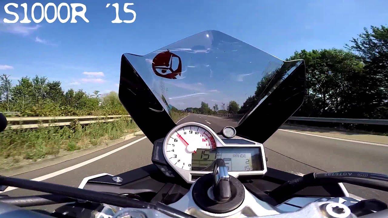 BMW S1000R 120-255 KMH Topspeed & 3 Corners - YouTube