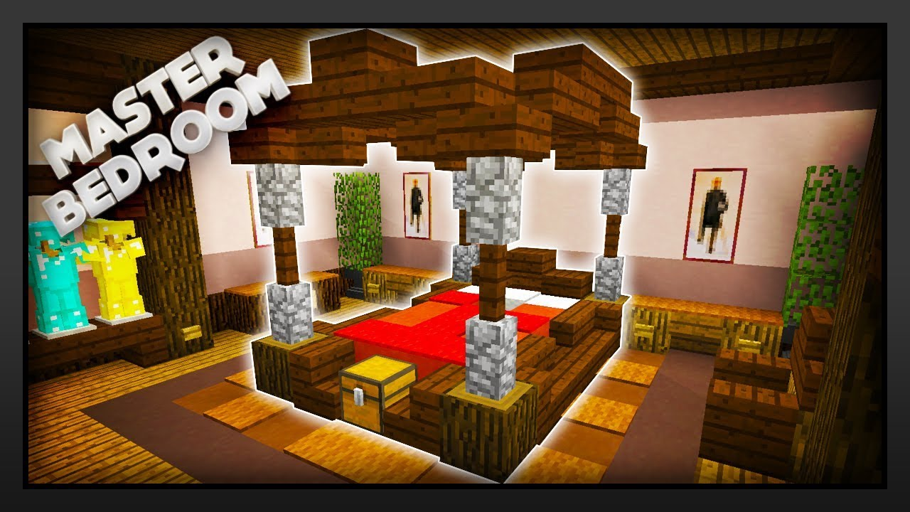 Minecraft - How To Make A Master Bedroom - YouTube