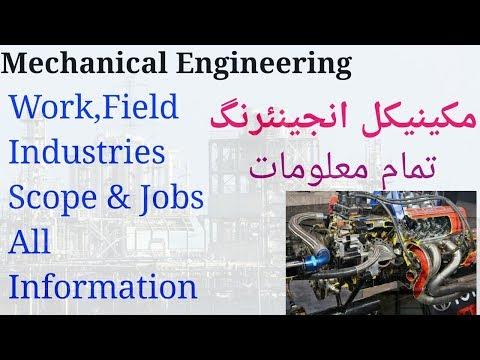 What is Mechanical Engineering|Mechanical jobs fields scope industries Urdu Hindi English
