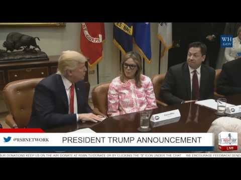 President Trump Makes Announcement w/National Association of Manufacturers