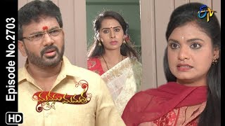 Manasu Mamata | 18th September 2019  | Full Episode No 2703 | ETV Telugu