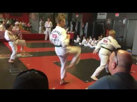 552017 Dreyden and skyler green belt test