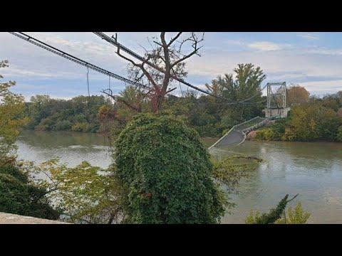 وفاة فتاة جراء انهيار جسر على نهر -تارن- في فرنسا  - نشر قبل 44 دقيقة