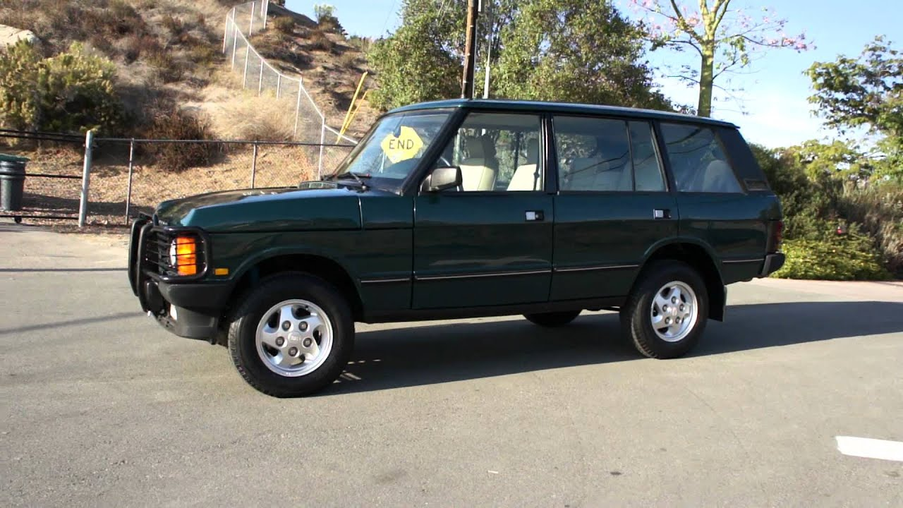 1995 Range Rover County LWB Classic Video Vogue 2 Owner 77k Mile