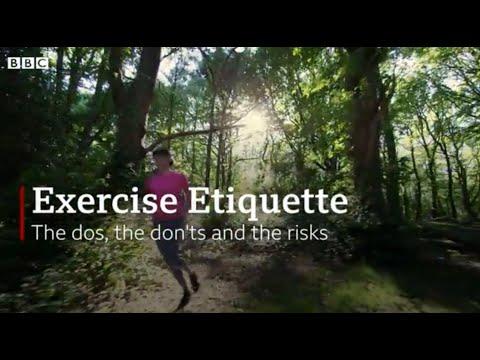 Exercise etiquette during Coronavirus