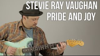 Repeat youtube video Stevie Ray Vaughan - Pride and Joy - Blues Guitar Lesson - Texas Blues Fender Strat