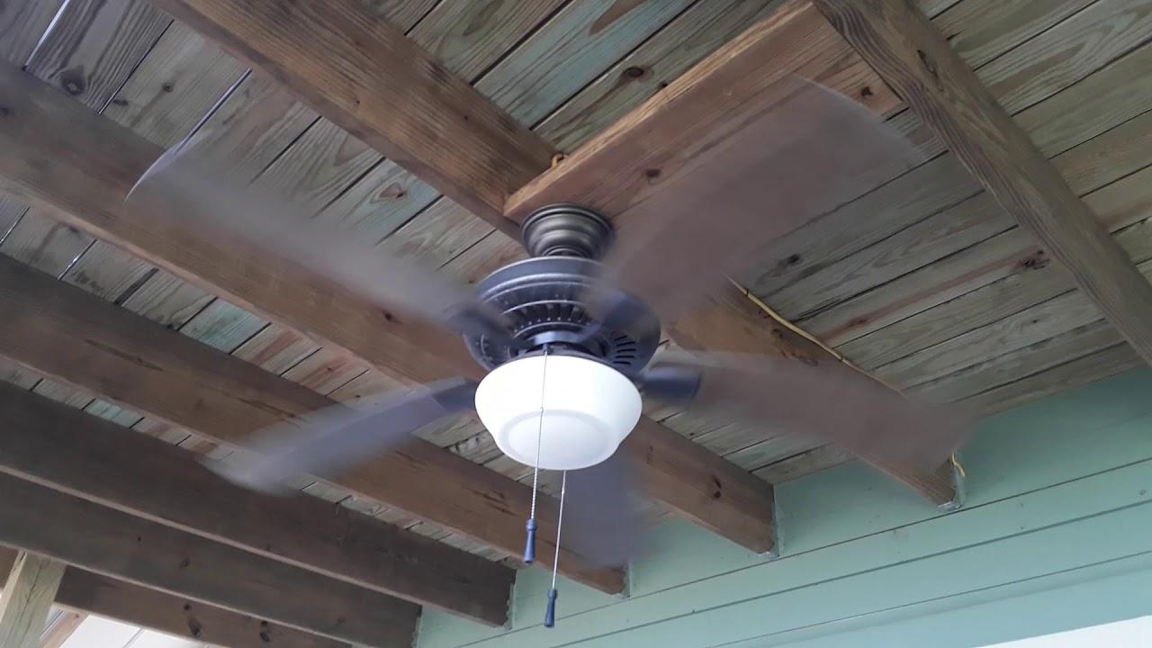 Hampton bay gazebo ceiling fan - YouTube