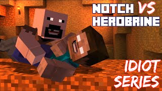 notch the king of mcsm vs herobrine idiot series minecraft story mode episode 6