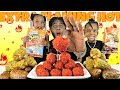 CHEESY FLAMING HOT CHEETOS KING CRAB BALLS W/ BLOVES SAUCE |SEAFOOD BOIL MUKBANG | EAT WITH ME
