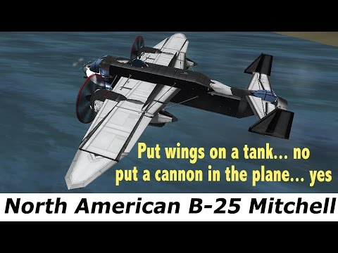 KSP North American B-25 Mitchell, real plane, Retro-Future planes & BDArmory