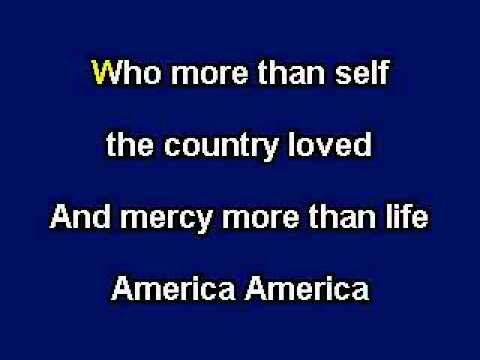America The Beautiful, Patriotic Music, Karaoke Video with on screen lyrics