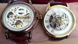 Cheap Skeleton Watch VS Rotary Skeleton Watch