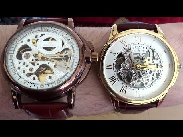 Cheap Skeleton Watch VS Rotary Skeleton Watch