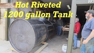 Old Fashioned Riveted Water Tank   Borax Water Wagon   Engels Coach
