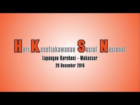 Hari Kesetiakawanan Sosial Nasional - Forum Peduli Sosial Makassar (2016)