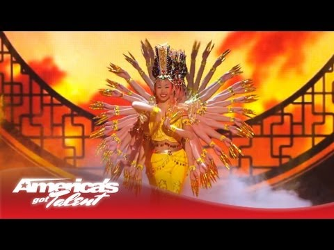 Mitsi Dancing School - Electrifies with Traditional Asian Dancing -- America's Got Talent 2013