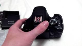 Canon EOS 600D Unboxing und ein paar Infos