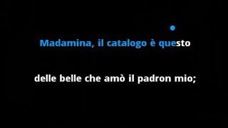 Mozart - Don Giovanni: Madamina il Catalogo È Questo for Baritone (Karaoke / Instrumental)