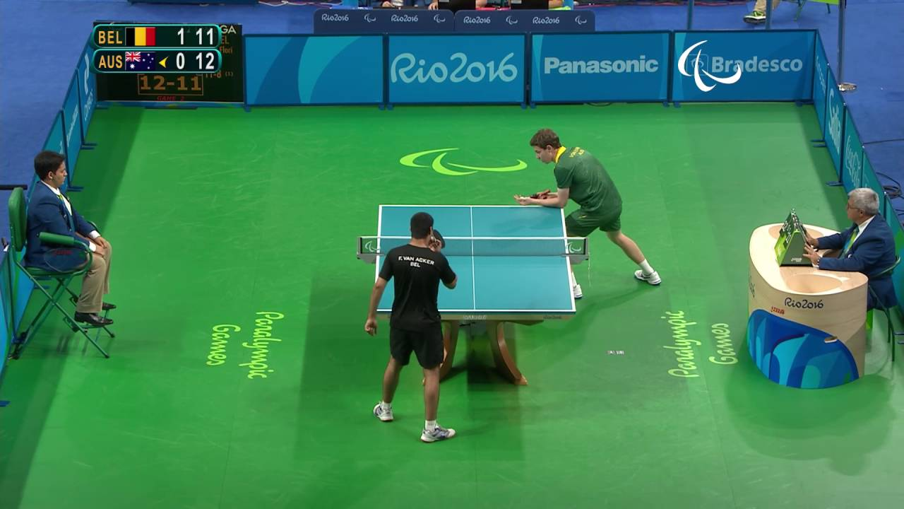 Table Tennis | Belgium v Australia | Men's Singles Final Class 11 | Rio 2016 Paralympic Games