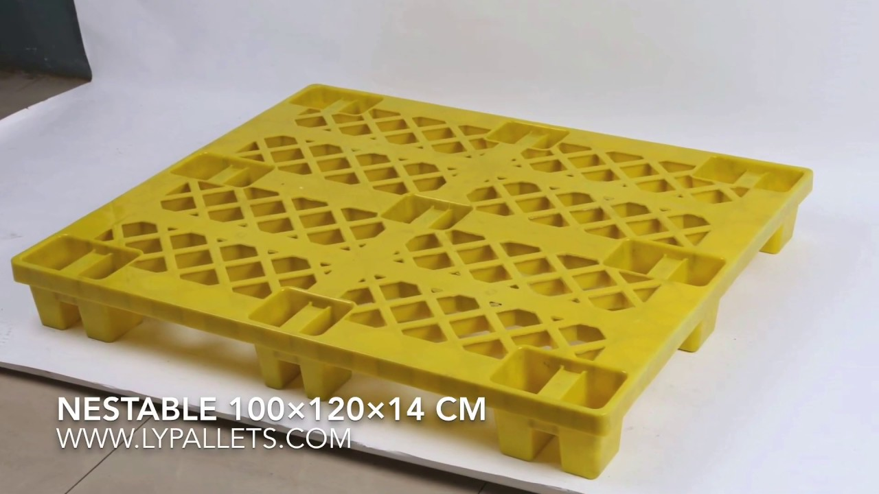 Plastic pallets for sale in china - Cheap Nestable plastic pallets in  dimension 100x120 cm