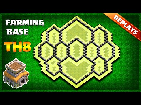 BEST Town Hall 8 (TH8) Farming/Trophy Base Layout 2019 - With Replays & Copy Link   Clash Of Clans