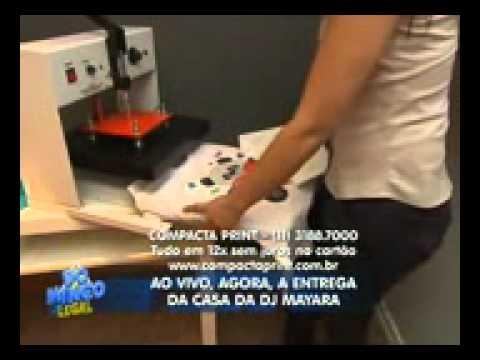 090d2666b4 Compacta Print - Máquina de Estampar Camisetas no Domingo Legal ...