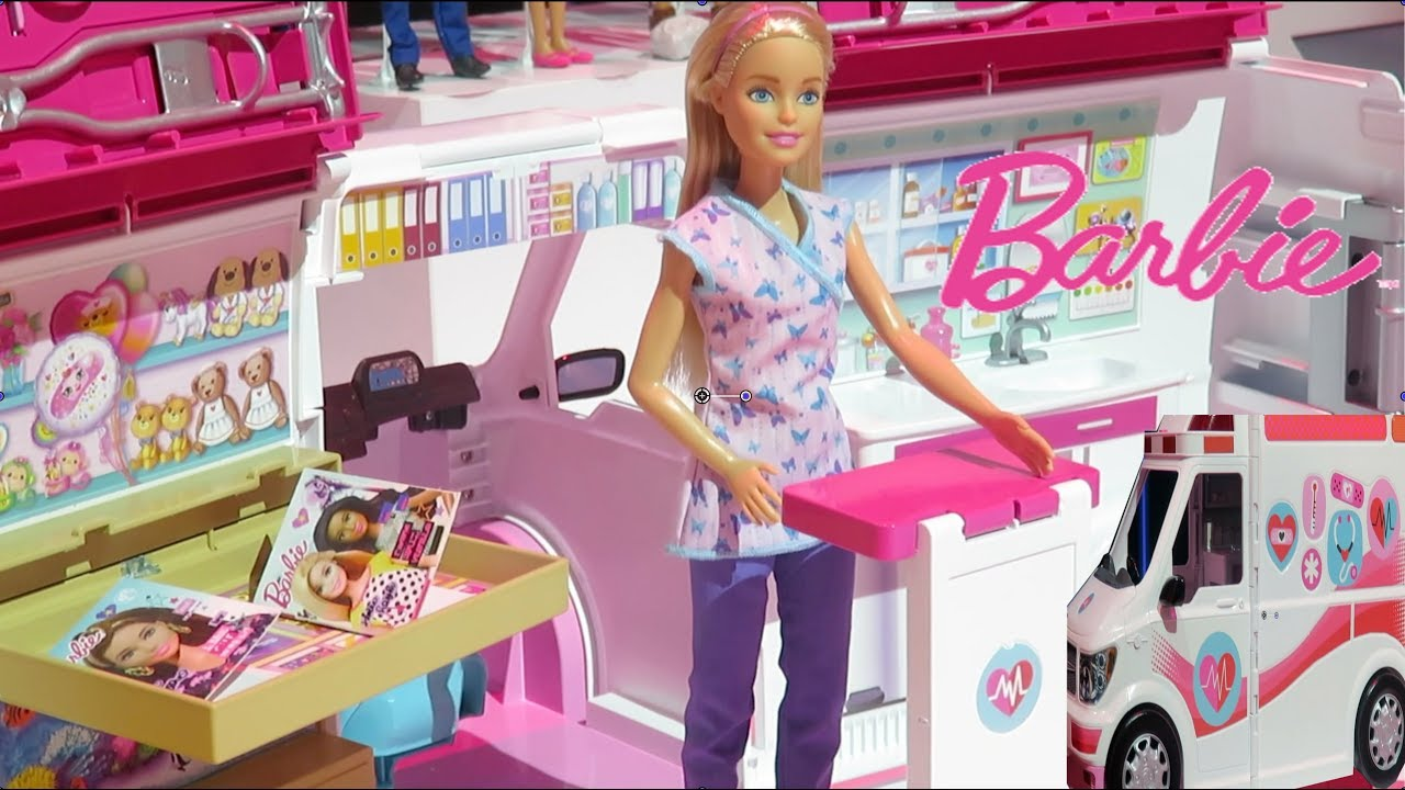 New Barbie Care Clinic Play Set Vehicle