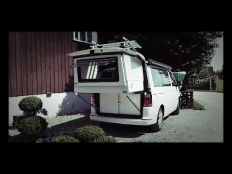 vw t6 doubleback bed bettmobil conversion by custom campers youtube. Black Bedroom Furniture Sets. Home Design Ideas