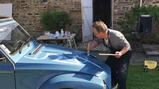 VanLuc customise une 2CV pour Lait-Douceur de Normandie