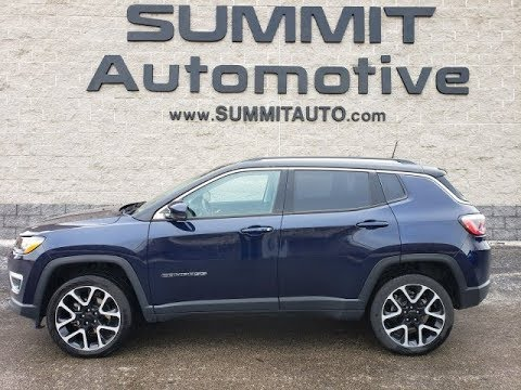 2018 Jeep Compass Limited Vista Roof Jazz Blue Pearl Walk Around Review 8j445a Sold Summitauto Com Youtube