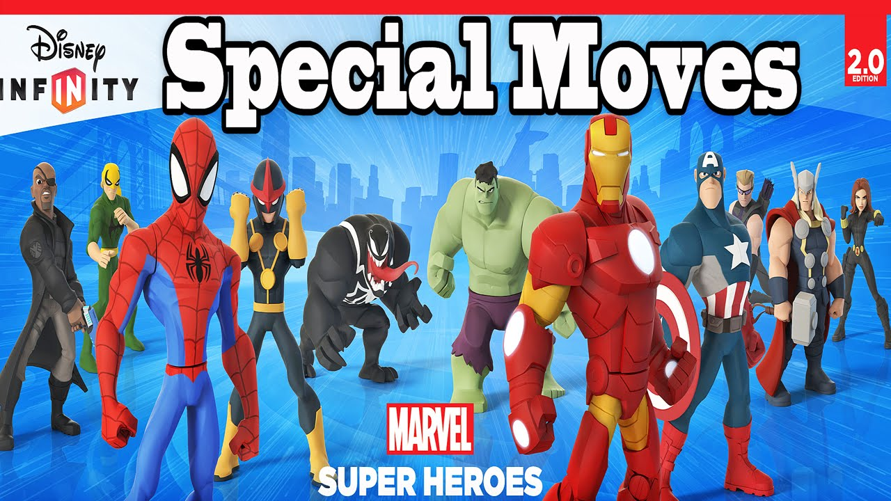 Disney Infinity 2 0 Marvel Super Heroes All Characters Special Moves 1080p Hd Youtube