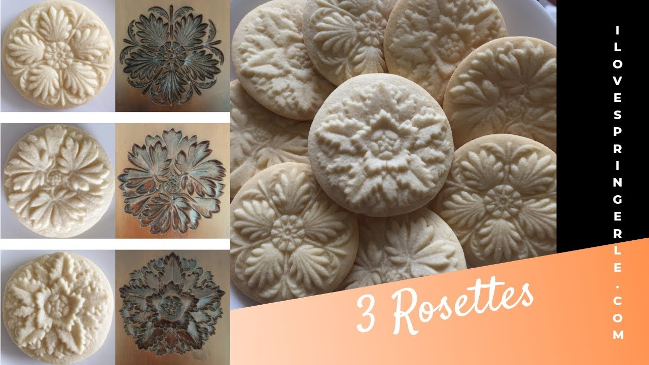 3 Rosettes Springerle Cookie Board And English Country Gardens