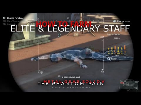 MGSV: TPP - How To Farm ELITE & LEGENDARY Staff For Your Motherbase