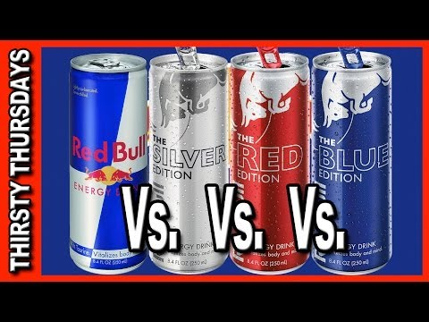 Red Bull Line Up Review - Red Bull vs Red vs Blue vs Silver