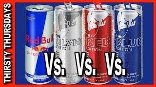 Red Bull Line Up Review - Red Bull vs Red vs Blue vs Silver
