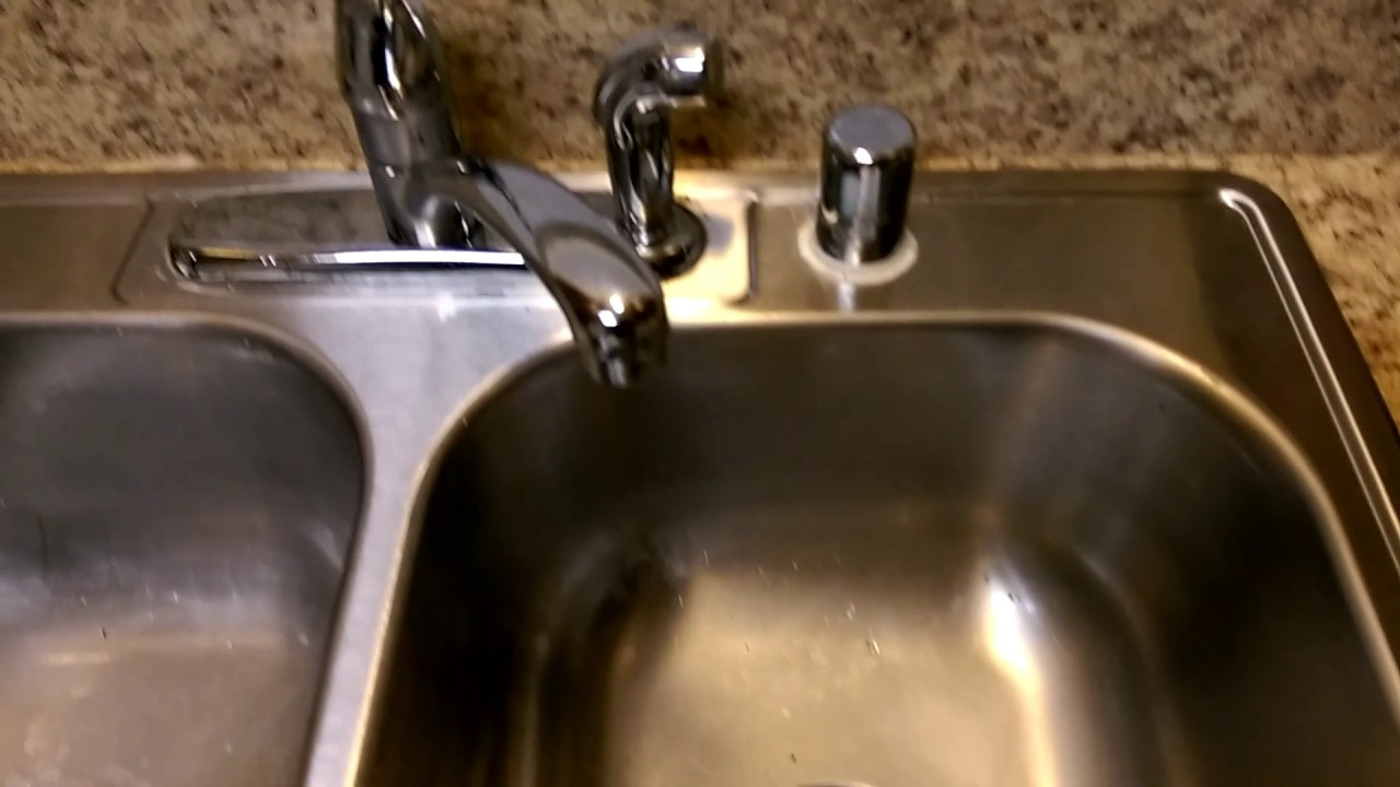 2010 Dayton kitchen sink with Moen Faucet - YouTube