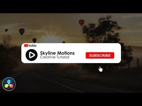 Subscribe Popup Animation - DaVinci Resolve 16 Tutorial