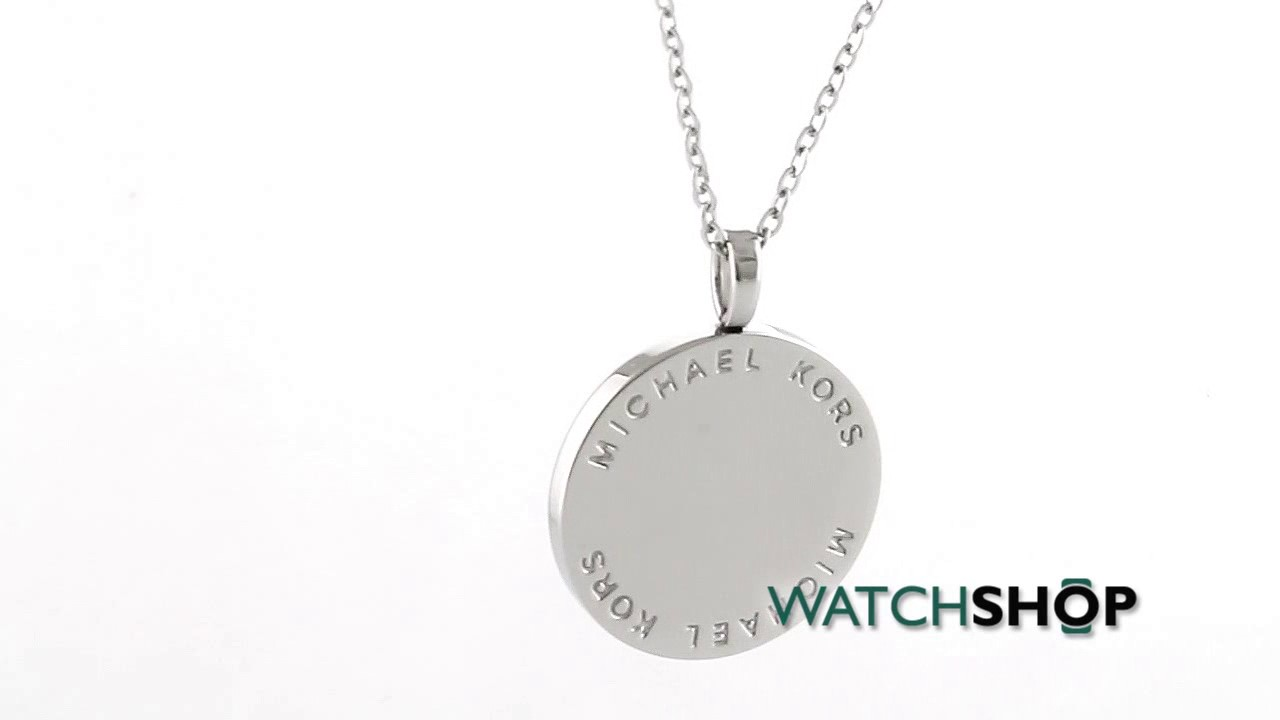 365d771a84b4 Michael Kors Jewellery Ladies' PVD Silver Plated Necklace (MKJ2655040)