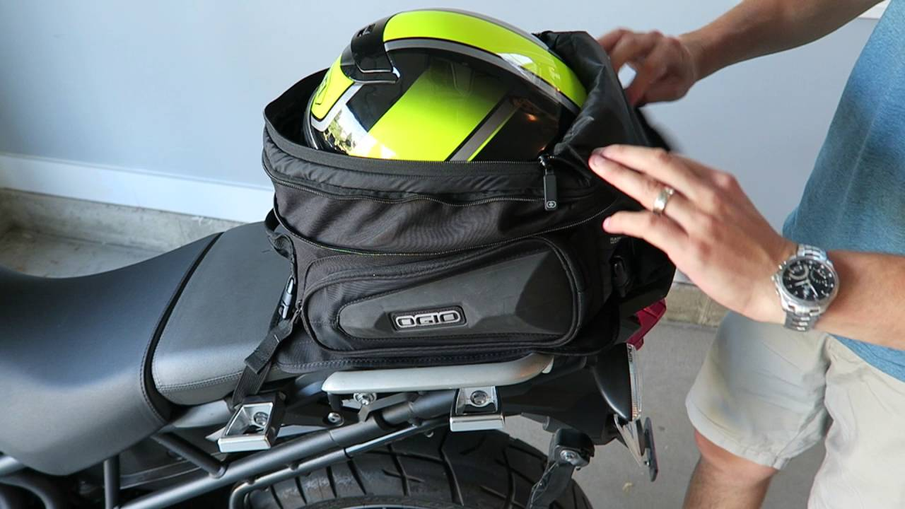 Ogio Stealth Tail Bag Review And Install On Triumph Tiger Motorcycle