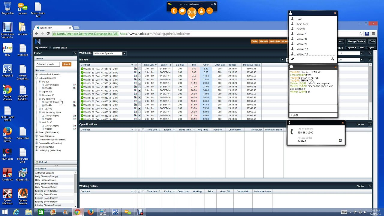 Binary option trading scam