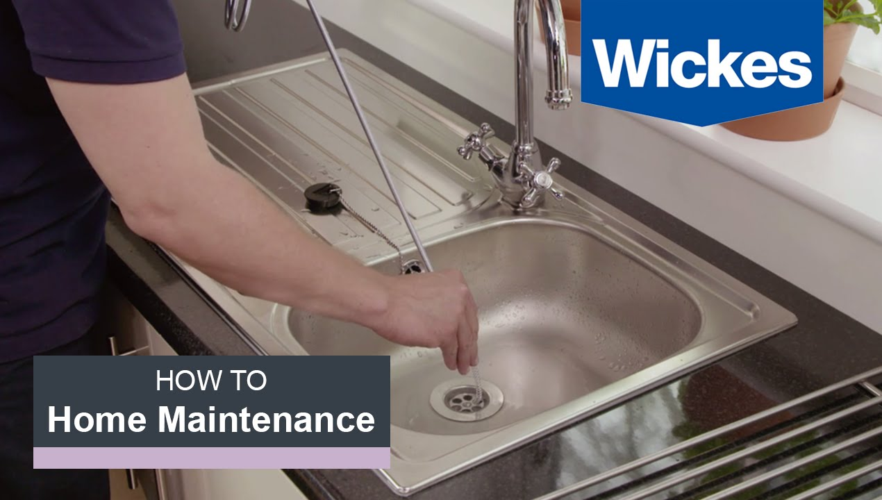 open kitchen sink glidden paint colors how to fix a blocked with wickes youtube