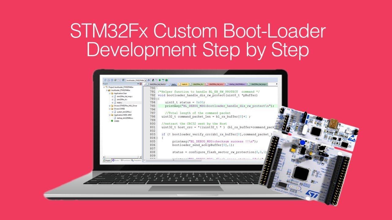 New Course :STM32Fx ARM Cortex Mx Custom Bootloader Development Step By Step