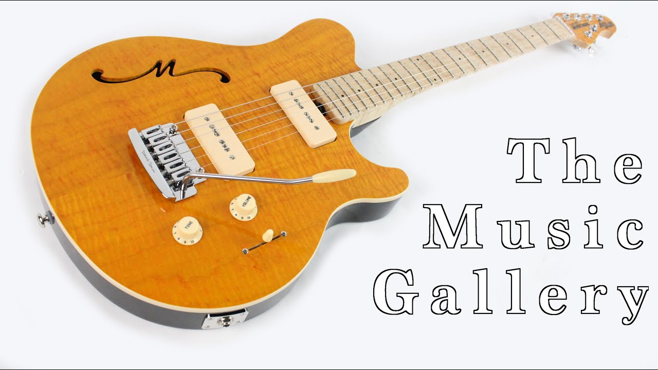Sold Music Man Axis Super Sport Semi Hollow In Trans Gold Youtube