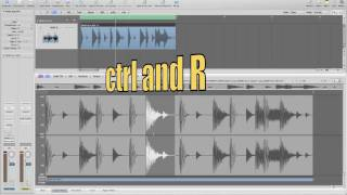 Logic 9 Quick Audio Editing Tip